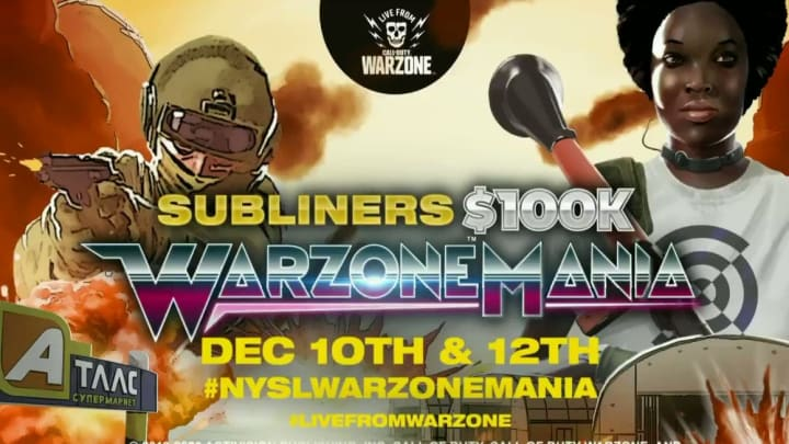 The Subliners $100K WarzoneMania tournament will feature fan-voted captains and a live draft.