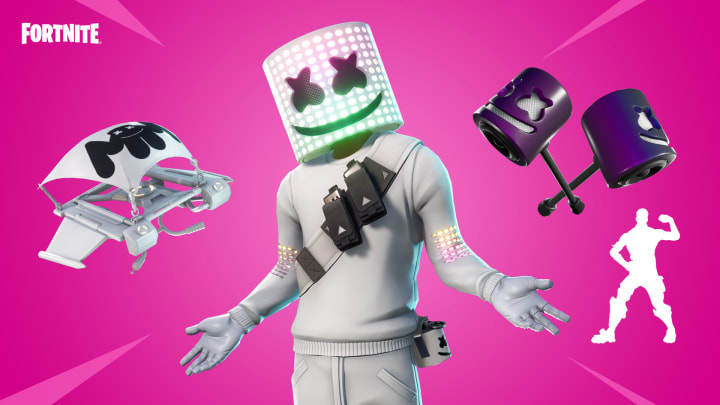 Marshmello is back to collaborate with Fortnite again for another cosmetic bundle that is available in the Item Shop now. | Photo by Epic Games