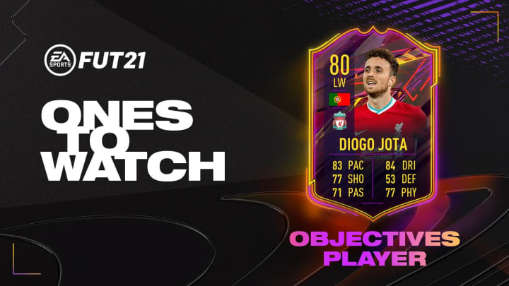 Complete the Ones to Watch objectives to unlock Diego Jota in FIFA 21.