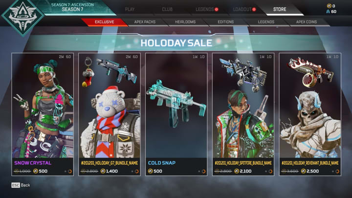Apex Legends Holo-Day Event Start Date and Skins