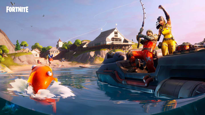 Fishing was added in Fortnite Content Patch 11.00.