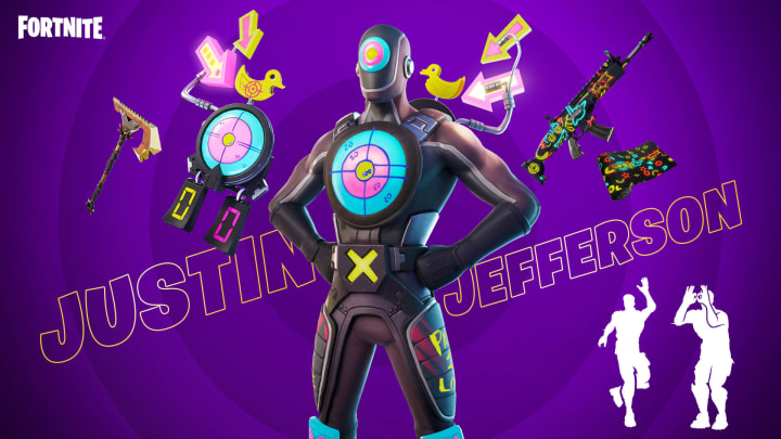 Justin Jefferson, rookie NFL wide receiver for the Minnesota Vikings, is among the first American football player to join the Fortnite Icon Series.