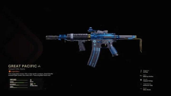Great Pacific Warzone blueprint skin