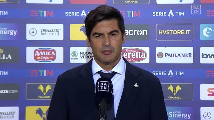 """Roma, Fonseca: """"Serve un attaccante. Dzeko con la Juve contro di noi? Vedremo..."""""""