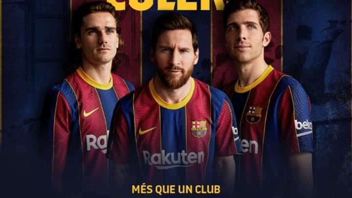 Barcelona 2020 21 Jersey Looks Like Crystal Palace Fans React As Fc Barcelona Officially Present New Kit