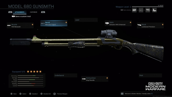 The Model 680 Shotgun can make use of the Dragon's Breath fire shell attachment, letting you burn enemies to a crisp. This is great for Warzone.