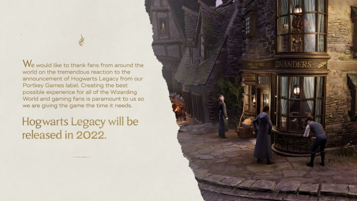 Hogwarts Legacy has been delayed to 2022.