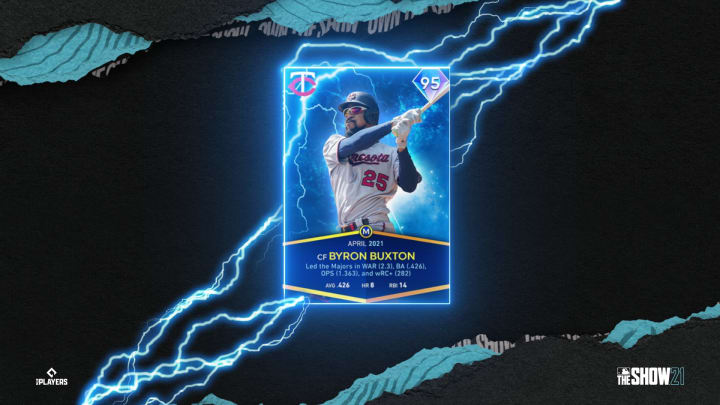 MLB the Show 21 has just released Byron Buxton's 95-overall diamond card, here's how to obtain it.   Photo by MLB, Sony San Diego