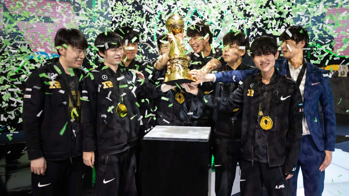Royal Never Give Up of China are the 2021 League of Legends Mid-Season Invitational Winners.   Photo by LoL Esports, Riot Games