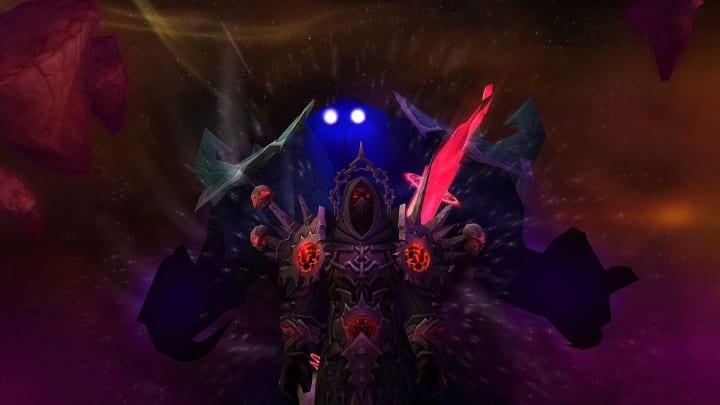 World of Warcraft Classic Burning Crusade Warlock class with a voidwalker