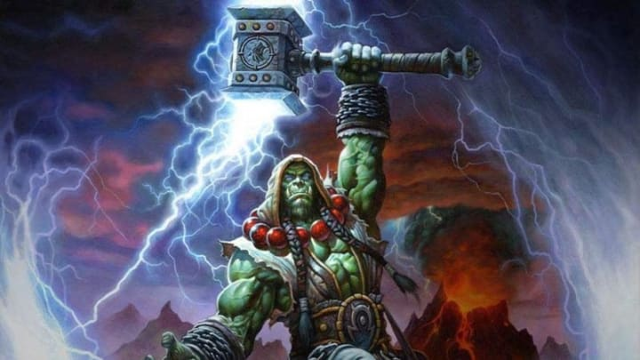 Thrall wielding Doomhammer