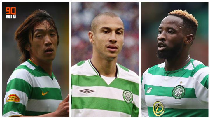 Shunsuke Nakamura, Henrik Larsson et Moussa Dembélé.