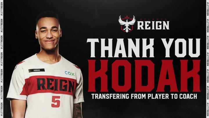 "Atlanta Reign Support Steven ""Kodak"" Rosenberger has been promoted to coach"