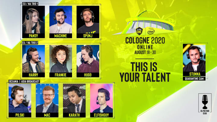ESL One Cologne 2020's online event will feature three total broadcasting teams.