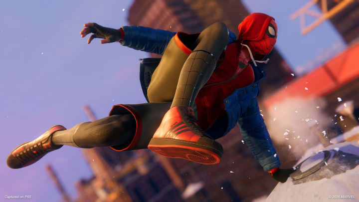 Visit Miles' father's grave to get the Never Give Up trophy in Spider-Man: Miles Morales.