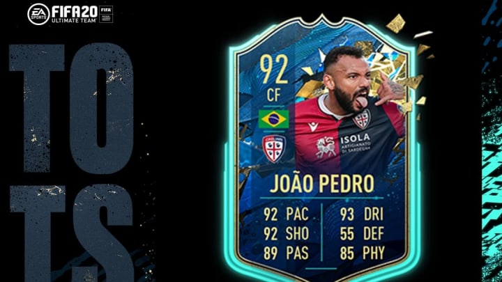 Joao Pedro received a TOTSSF card in FIFA 20 for the Serie A.