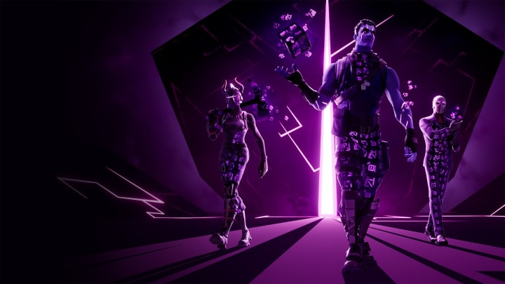 Promo art containing all three skins contained in the Dark Reflections Pack