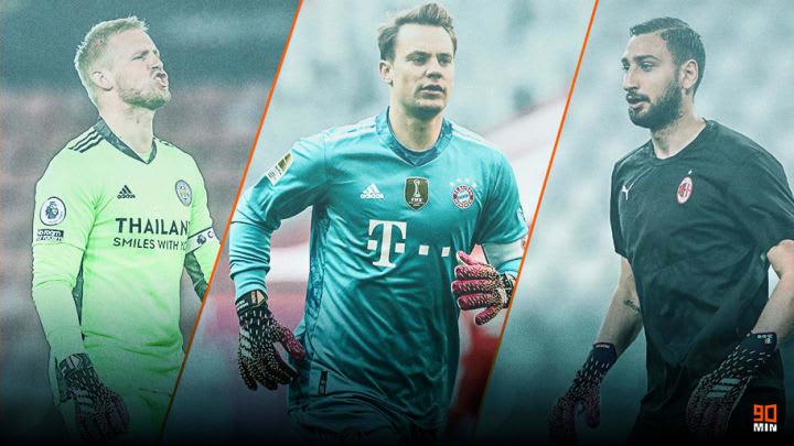 Schmeichel, Neuer, Donnarumma e mais: confira quem são os 10 principais goleiros da Eurocopa 2020.