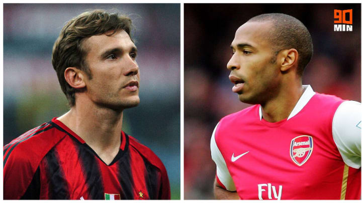 Andriy Shevchenko vs Therry Henry.