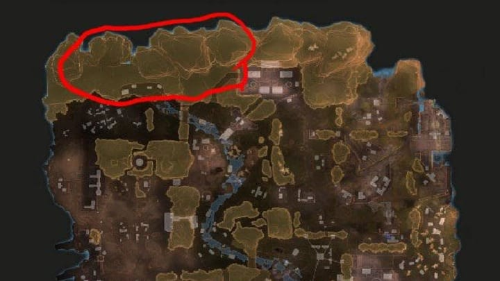 The map in question