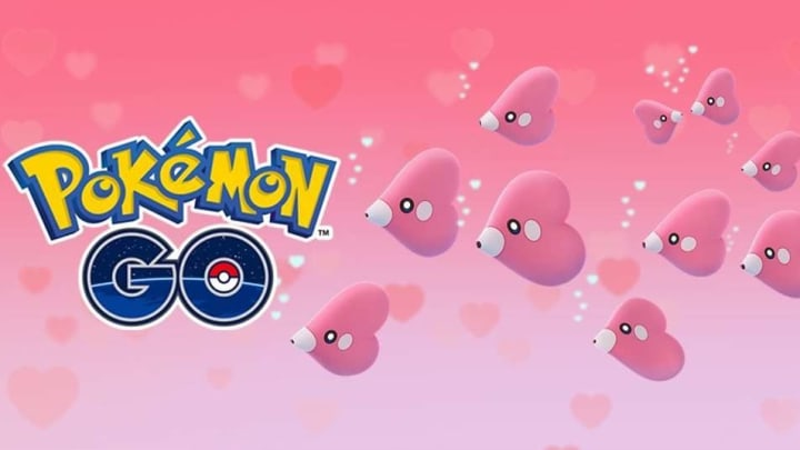 """Trainers felt the """"Luv"""" in the air during Pokemon GO's Luvdisc Spotlight Hour."""