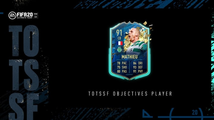 Jeremy Mathieu received a TOTSSF card in FIFA 20.