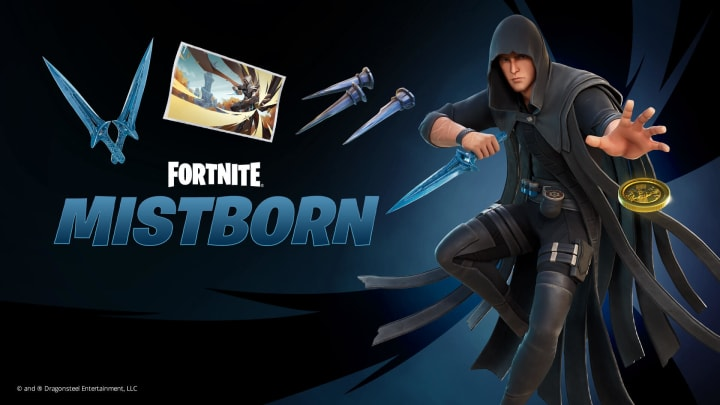 Fortnite collaborates with Brandon Sanderson to bring the Mistborn series into the island.   Photo by Epic Games, Dragonsteel Entertainment