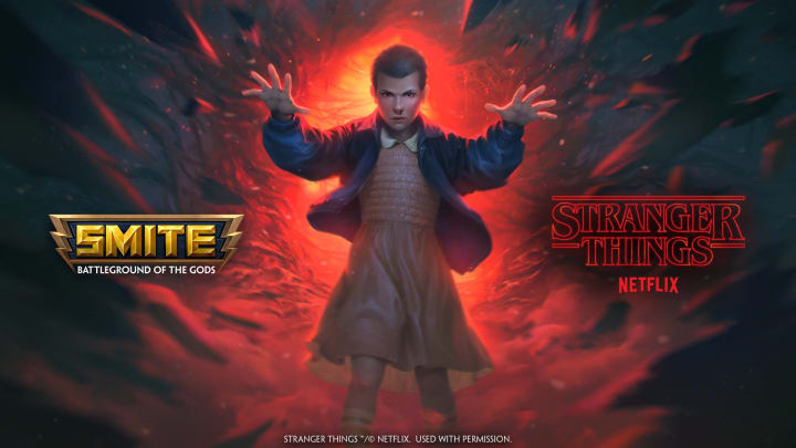 Skins featuring popular Stranger Things characters will be arriving in Smite