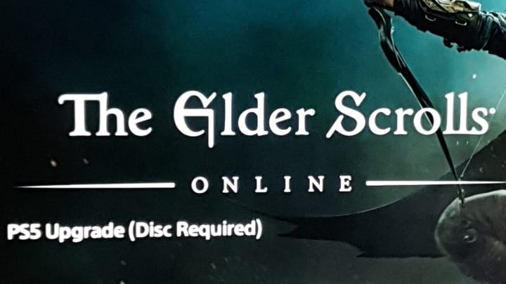 PlayStation 5 players are currently facing a disc upgrade error when attempting to play The Elder Scrolls Online.