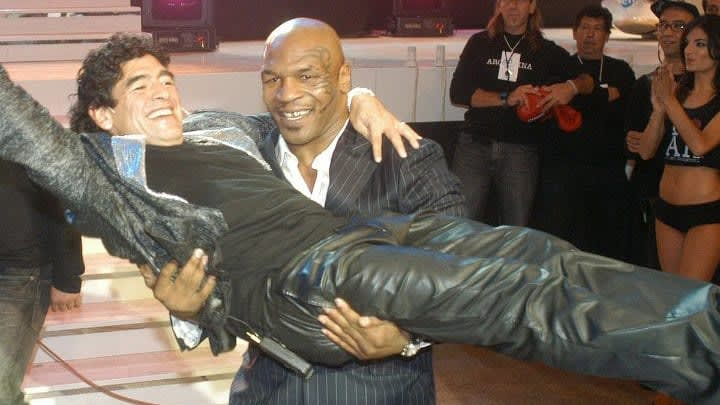 Mike Tyson and Diego Maradona