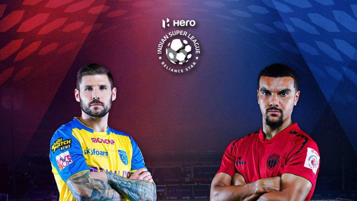 Kerala Blasters vs NorthEast United squad