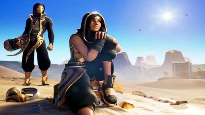 Fortnite Update 13.20 fixed a bug making the Sandstorm outfit's hair invisible.
