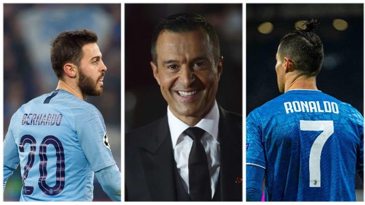 Jorge Mendes est l'agent de Cristiano Ronaldo et Bernardo Silva.