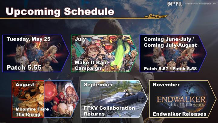 Final Fantasy XIV upcoming schedule 2021