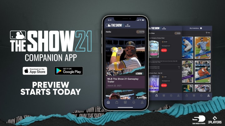 The MLB The Show Companion App invites baseball fans to get news, buy and sell cards on the market, and buy and open packs from their phones.