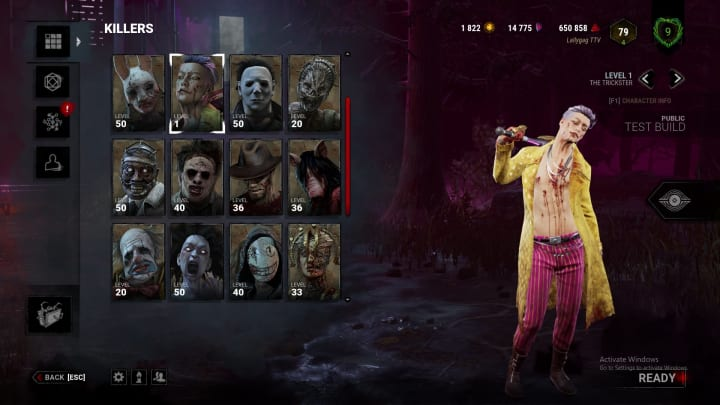 Dead by Daylight's Trickster is the newest killer revealed and currently live in testing servers.
