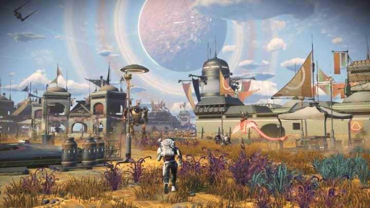 The Frontiers 3.6 update for No Man's Sky invites players to become overseers of their very own procedurally generated alien settlements.