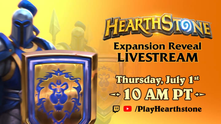 The latest expansion for Hearthstone, World of Warcraft's card-based companion game, is set to be unveiled on Thursday, July 1.