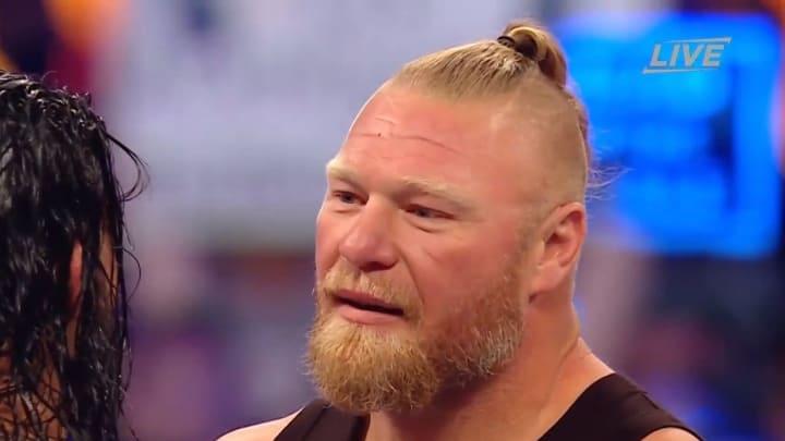 Brock Lesnar's ponytail.