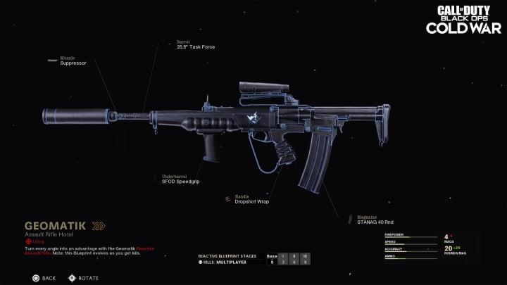 """Projeto de arma de rifle de assalto ultra-raridade """"Geomatik"""""""