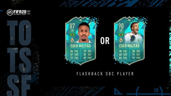 EA Sports released a Flashback SBC giving players a pack with a guaranteed Flashback player.