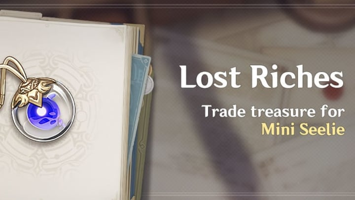 Special Treasure is up for grabs as Genshin Impact's second Lost Riches event is officially underway until Aug. 16.
