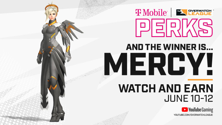The community voted on Twitter for Mercy to have her exclusive Overwatch League skin for free just by watching June Joust. | Photo by Blizzard