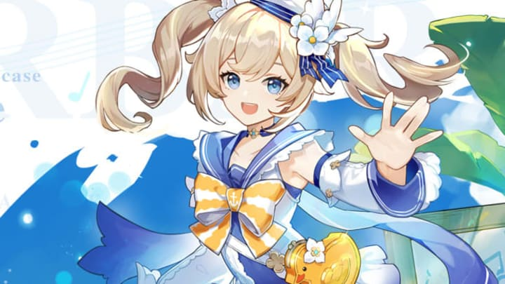 """Barbara's new outfit, """"Summertime Sparkle"""", obtained through the event"""