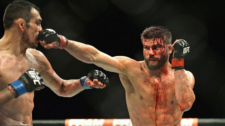 Josh Thomson was left a bloody mess after being dominated by Tony Ferguson.