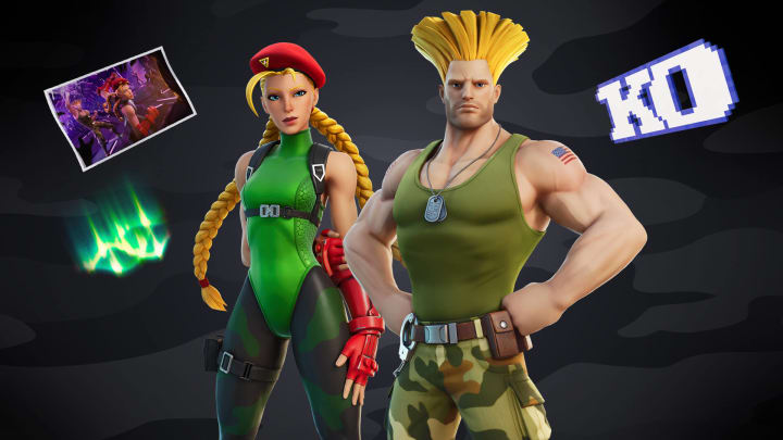 Iconic Street Fighter stars, Cammy and Guile, are set to officially drop in the Fortnite Item Shop on Aug. 7, 2021 at 8 p.m. ET.
