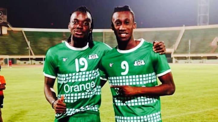 Lamine Ouattara (à droite) avec son idole Betrand Traoré.