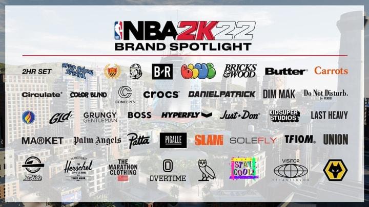 NBA 2K22 Apparel Partners, Clothing Brands