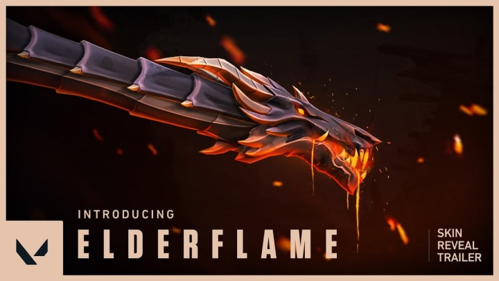 The Elderflame Collection will be Valorant's first Ultra Edition skin line.