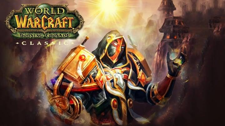 World of Warcraft The Burning Crusade Classic human paladin